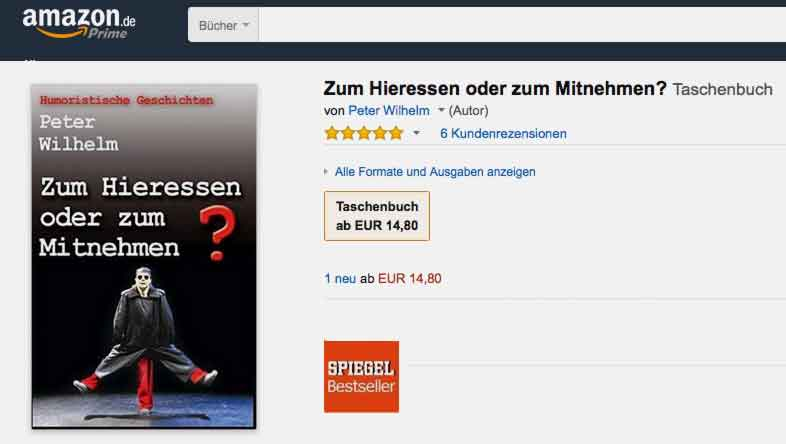 Peter Wilhelm Bestseller